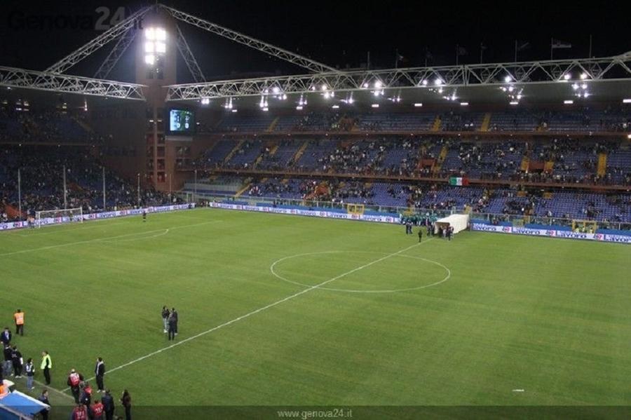 Realizzazione campo di calcio - Stadio Marassi di Genova.